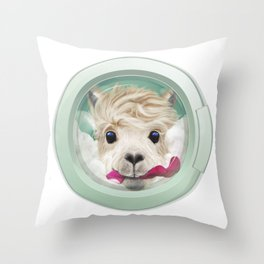 The Cleanest Lama Throw Pillow