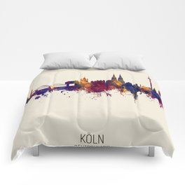 Cologne Germany Skyline Comforters