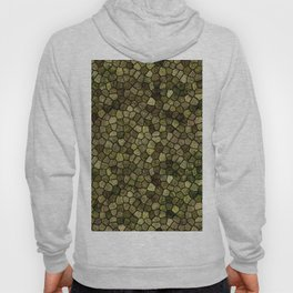 Seaweed and Juniper Cobbled Patchwork Terrazo Pattern Hoody
