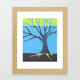three color tree Framed Art Print