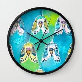 Budgies Wall Clock