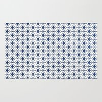 indigo Area & Throw Rugs featuring INDIGO by KIND OF STYLE