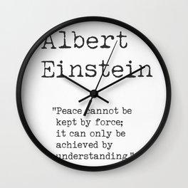 Albert Einstein quote 30 Wall Clock