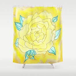 Neutral Rose Watercolor Shower Curtain
