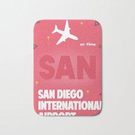 SAN San Diego airport code Bath Mat