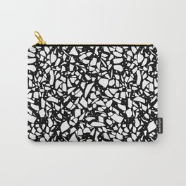 Terrazzo Spot 2 White on Black Carry-All Pouch