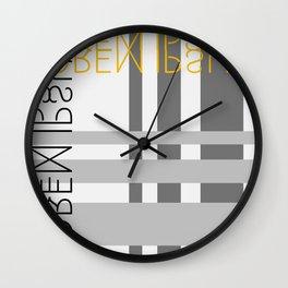 Lorem Ipsum III Wall Clock