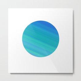 Minimalist blue swish Metal Print