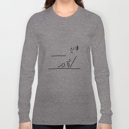 100 metre sprint athletics start Long Sleeve T-shirt