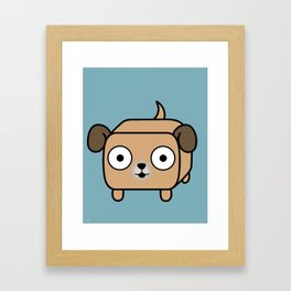 Pitbull Loaf - Fawn Pit Bull with Floppy Ears Framed Art Print