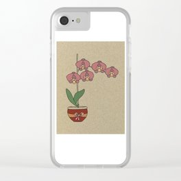 orchid nr2 Clear iPhone Case