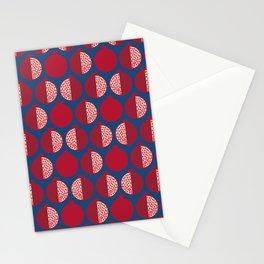 Pomegranate Line Up Blue Stationery Cards