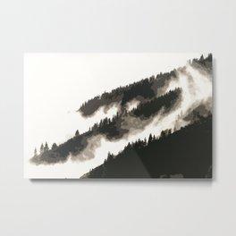 pine fog watercolor Metal Print