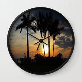 Living in Paradise- horizontal Wall Clock