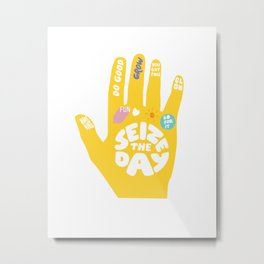 Seize the day – Sunshine hand Metal Print