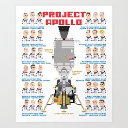 Project Apollo iotacons Art Print