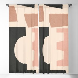 Minimal Abstract Art 55 Blackout Curtain