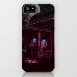 Ghoulish Sisters iPhone Case