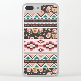 Floral Aztec Tribals Clear iPhone Case