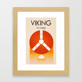 Viking To Mars Framed Art Print