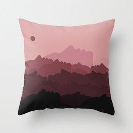 Love Mountain Range Throw Pillow