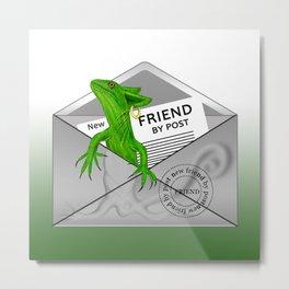 New friend by post Metal Print