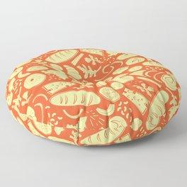 Bread and Breakfast Floor Pillow