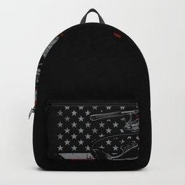 Fisher Fishing US Flag Patriotic Backpack