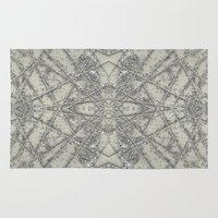 snowflake Area & Throw Rugs featuring Snowflake  by Project M