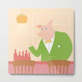 Pig's Bar Metal Print