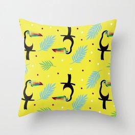 Keel billed toucan Throw Pillow