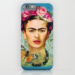 FRIDA Y MARIPOSA iPhone Case