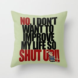 Get off my back - 2 Throw Pillow