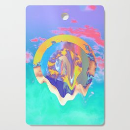 Psychedelic Clouds Cutting Board