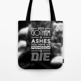 """DARK KNIGHT RISES"" - BANE - Typography Poster Tote Bag"