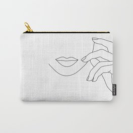 Hands line drawing illustration - Greta Carry-All Pouch