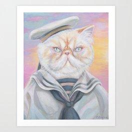 Sailor Kitty Cat Art Print