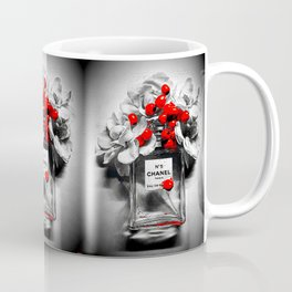 No 5 Black and White Coffee Mug