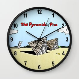The Pyramids of Pisa Wall Clock