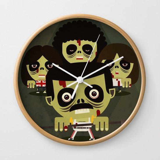 queen zombies Wall Clock