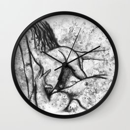 Hot Breakfast black&white - Erotic Art Illustration Nude Sex Sexual Love Lovers Relationship Couple Wall Clock