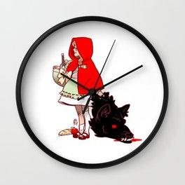 Litte Red Wall Clock