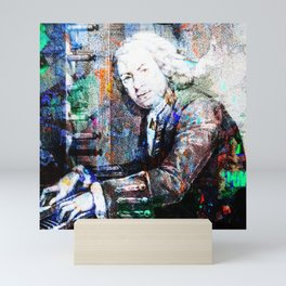 Bach Composer Musician Collage Portrait Mini Art Print