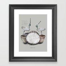 Mushroom drums Framed Art Print