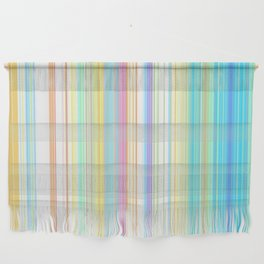 Pastel Rainbow Vertical Stripes Wall Hanging