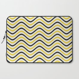 The Wave:  Black + Gold Laptop Sleeve