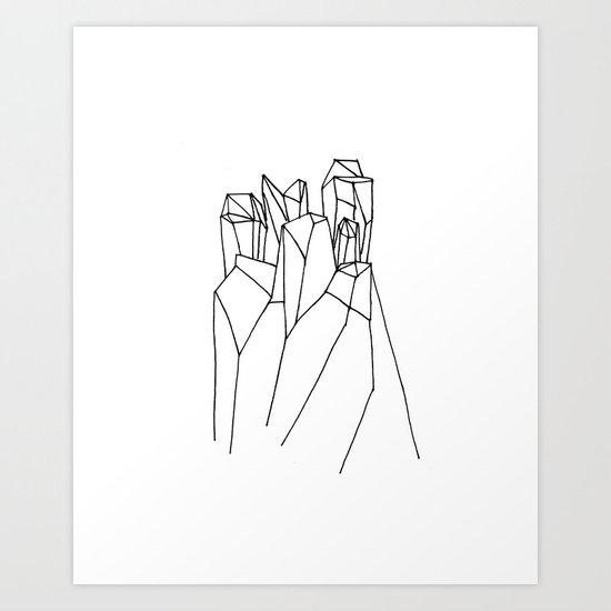 Crystal B&W Art Print