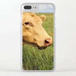 Blonde Cow Clear iPhone Case