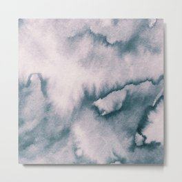 Watercolor texture - neutral Metal Print