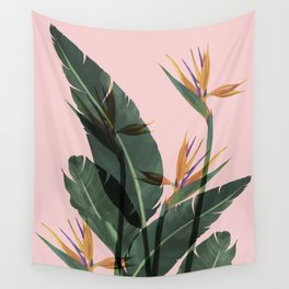 Bird of Paradise Flower Vintage Wall Tapestry